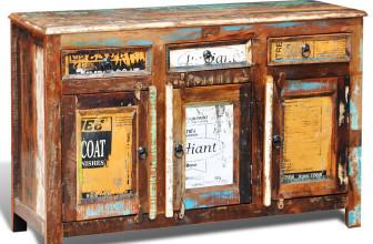 bunte shabby chic kommode aus mangoholz vintage m bel ideen. Black Bedroom Furniture Sets. Home Design Ideas
