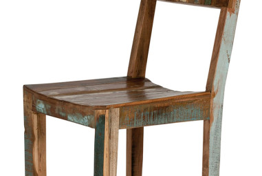 Vintage Stuhl aus recyceltem Altholz