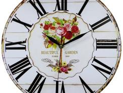 Vintage Uhr mit Shabby Pale Ziffernblatt