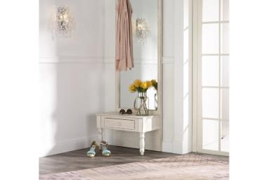 Shabby Chic Garderobe mit Wandspiegel
